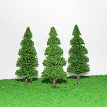 10pcs Model Train Trees Pine Railroad Scenery Layout HO OO Scale NEW model train ho scale S0405 railway modeling