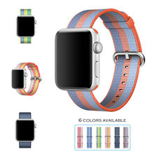 URVOI 2017 band for apple watch series 1 2 woven nylon band fabric-like feel strap for iWatch colorful pattern classic buckle