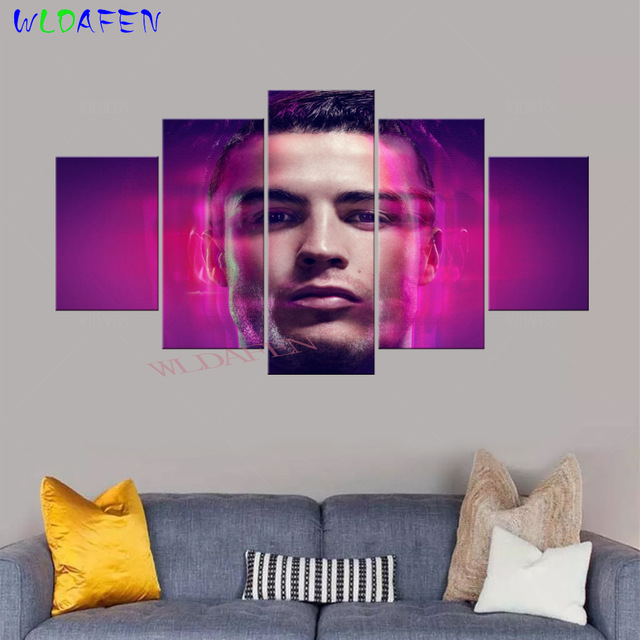 Wall-Art-Canvas-Painting-Modular-Pictures-5-Pieces-Print-Sports-C-cristiano-ronaldo-ronaldo-madrid-cr7.jpg_640x640