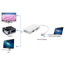 3 in 1 Mini Display Port DP to HDMI VGA DVI Convertor Adapter Cable for Mac iMac(China)