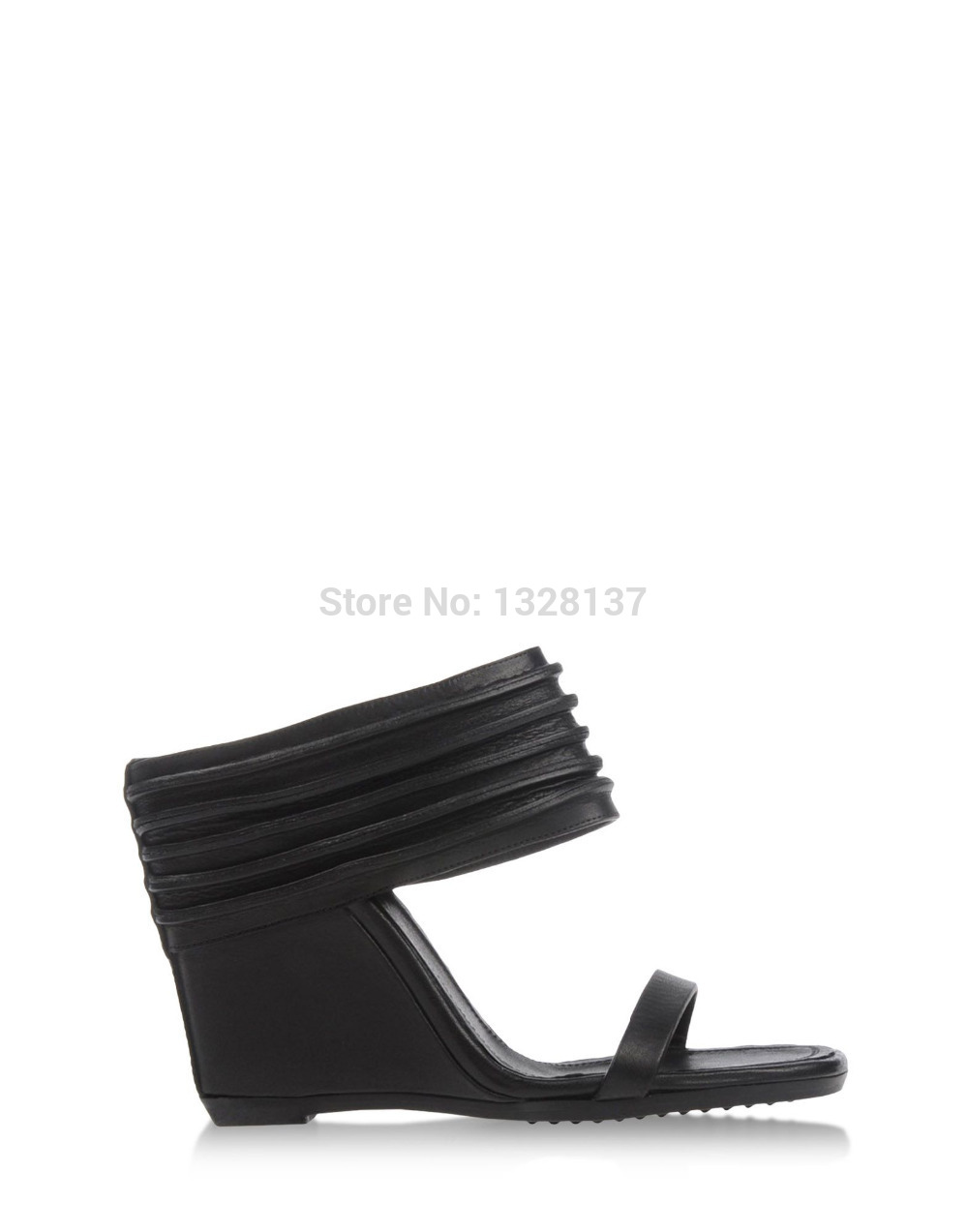 Black Fashion Soft Suede  Leather Sandalsluxury Shoes For Women Commodities Trading Platform Summer Breathable Shoes Femmes 2014<br><br>Aliexpress