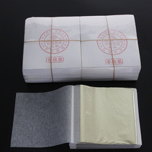 1000 Sheets XuGuang brand Champagne silver leaf/ foil, Shiny flat Leaf gilding , size:80X85mm,Factory Outlet, free shipping.(China)
