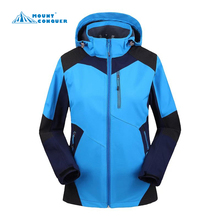 Soft shell woman autumn winter jacket Outdoor jaqueta Camping sports coat fishing mountain jackets waterproof Windproof(China)