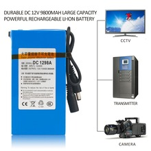 Durable DC 12V 9800MAH Large Capacity Super Powerful Rechargeable Li-ion Battery With EU Plug Backup Li-ion Battery For Camera