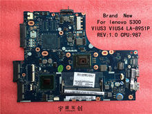 Free shipping Brand New For lenovo S300 Motherboard CPU Pentium 987 VIUS3 LA-8951P Rev:1.0 ( compatible for I3 I5 I7 )
