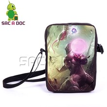 Dragon Ball Pokemon Crossovers Mini Messenger Bag Boys Girls Schoolbags Cartoon Frieza Mewtwo Shoulder Bags Kids Best Gift(China)