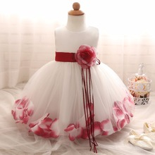 Flower Baby Girl Dress wedding for kids 1 year Birthday dresses Baptism newborn Girls clothing infant tutu dress girl Clohtes(China)