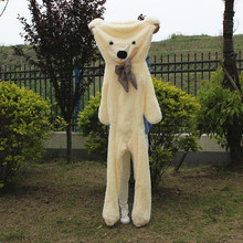 200cm Teddy Bear Skin Toy Plush Teddy Bear Bearskin Giant Teddy Bear Coat Plush Toy Kids Birthday Christmas DIY Gift