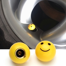 4pcs/lot Smiling face tire valve caps for Car Motorcycle Bycycles Decoration Automobile Truck Wheel Anti dust Cap Accessories