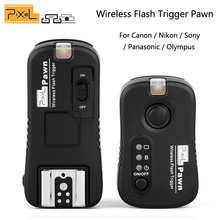 Pixel Wireless Remote Control Shutter Release Flash Trigger for Canon Nikon Sony Panasonic Olympus Camera transmitter receiver