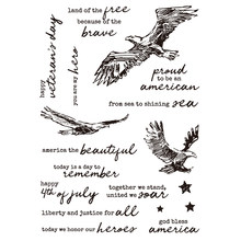 America Eagles Words Transparent Stamp Clear Stamps For DIY Scrapbooking Album Paper Cards Making Decorative Crafts 6x8 Inches