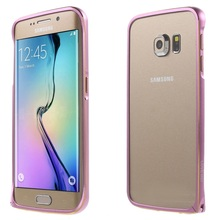 LOVE MEI for Samsung Galaxy S6 Edge G925 Cases Metal Bumper Rim Cover for Galaxy S 6 Edge G925 Hippocampal Buckle Curved Edges