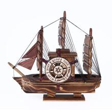 Classics Wooden Ship Model Sailboat Music Box KIds Gifts Toy Kits Hand Craft Antique For Birthday Gift Funny Home Decoration(China)