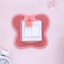 Home decoration South Korea creative pastoral style switch stickers switch decorative wall stickers  dust switch cover 6zza232