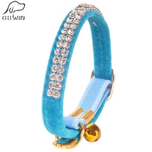 Diamond Cat Collar for Puppy Dogs and Cats Dog Leash and Collar Cute Dogs Cat for Pets Accessories Cats Training Collars YS0035