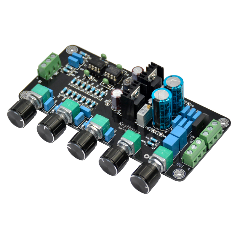 Updated OPA2604 AD827JN OPAMP Stereo Preamp Pre-amplifier Volume Tone Control Board<br><br>Aliexpress