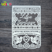 Paper Personalized laser cut flower and bird various colors wedding invitation cards design(China)