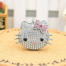 USB Flash Drive 128GB Pen Drive Pendrive Metal Hello Kitty Cat Style 8GB 16GB 32GB 64GB 2.0 Memory Stick(China)