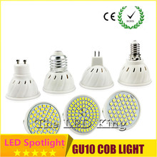 1Pcs/lots GU10 MR16 GU5.3 LED lamp Spotlight 7W 9W 12W 220V High Lumen 2835 SMD 48 60 80LEDs Bulbs light 700LM Fireproof Body