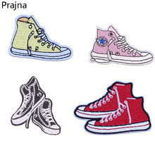 Prajna Logo Shoes Patch Hot Iron On Cartoon Patches Kid Sewing Parches Cheap Embroidered Patches For Clothes Badge Free Shipping