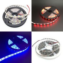 Free ship 5M 5050 60 LED 12V  Non-Waterproof Red/Blue/Yellow/Green/White/Warm White Strip Light