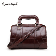 Cobbler Legend Boxy Design Genuine Leather Women Handbag Brand Fashion Shoulder Bag Crossbody Vintage Handmade Old Classic Tote(China)