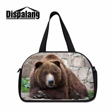 Dispalang Animal Bear Print Travel Bags for Women Cute Shoulder Duffle bag Mens Large Capacity Cloth Travel Tote Carry on Bags