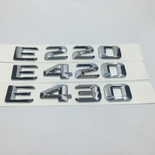 for Mercedes Benz W124 W211 E-CLASS E220 E420 E430 Trunk Rear Emblem Badge Chrome Letters