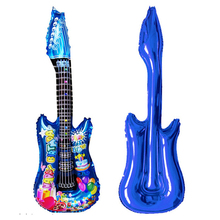 1pc Novelty Cartoon Guitar Balloon for Kids Birthday Party Decoration Wedding Decor or As Kids Anniversary Gift, Random Color(China)