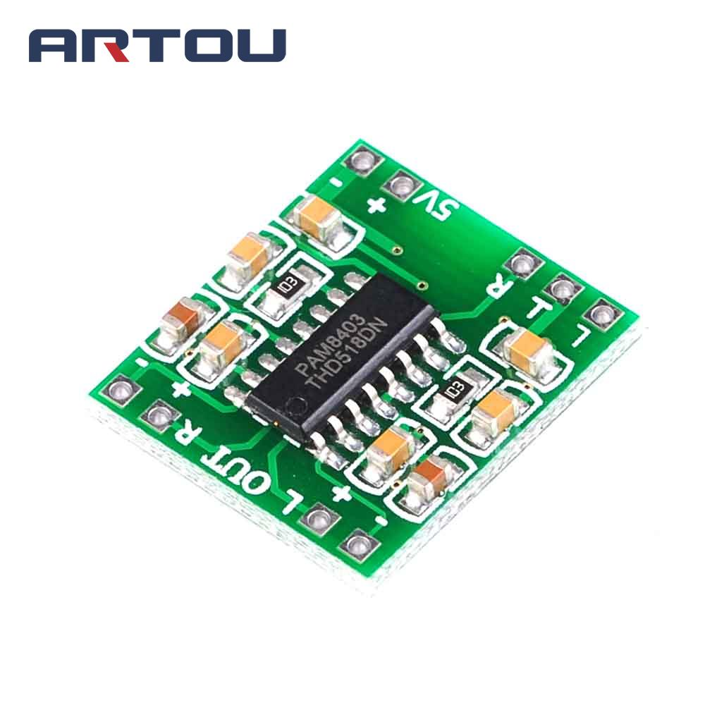 1PCS PAM8403 Audio Module DC 5V Mini Class-D Digital Amplifier Board LCD Top Sale