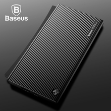Baseus Portable 10000mAh Power Bank Dual USB LCD Powerbank Slim External Battery Charger For iPhone X 8 7 Mobile Phone Poverbank(China)