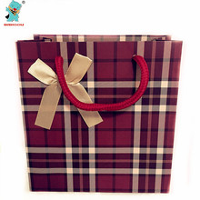 High Quality Party Deep Red Stripe Gift Bags 4PCS Party Birthday Wedding Decoration Supplies Souvenir Bags Gift Bag