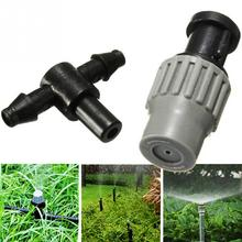 Adjustable Micro Plastic Misting Atomizing Sprinkler Nozzles Water Spraying Tee for Greenhouse Garden Lawn Grass Flower Plant(China)