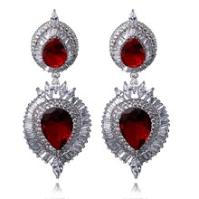 Superior Wedding Earrings Stunning design Latest fashion Exaggerated Elegant Colorful and Very Bright Zircon Luxury brincos(China)