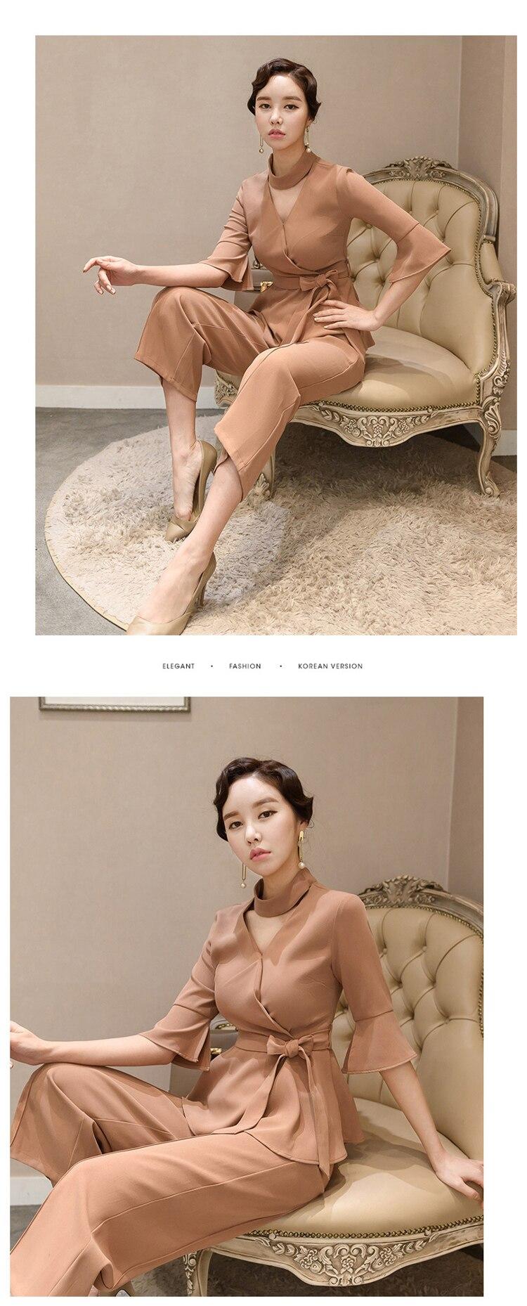 women elegant office work wear style pants suit autumn 0 (4)