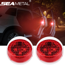 4PC Car LED Light Door Logo Anti Collision Warning Magnetic Flashing Strobe Lights Signal Lamps Cars Bulbs Lamp Auto Accessories