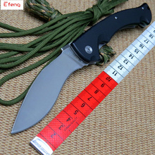 Efeng cold steel Folding Knives Custom tactical D2 steel Blade G10 handle Camping Outdoor Survival Knives portable EDC tool