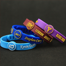 KLEEDER NBA Signature Sports Silicone Women Men's Bracelets Adjustable Bangles for Basketball lover Fans Wrist Strap jewelry