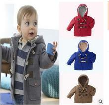 Retail!2017 new  fashion baby boys and girls autumn winter thicker warm hooded outerwear jackets,children's clothing
