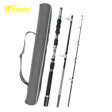 Free Shipping-Hennoy 3 section Heavy Jigging Rod Fishing Spinning Rod 1.8m 1.95m 2.1m Deep Sea Boat Fishing Rod