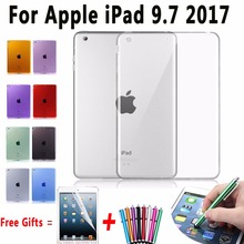 Soft TPU Cover for Apple iPad 9.7 2017 Case Silicone Transparent Case for ipad 9.7 A1822 A1823 Slim Clear Cover for New iPad 9.7