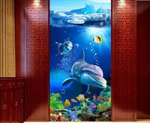 Custom photo 3d wallpaper Non-woven mural picture wall sticker 3 d Iceberg underwater world  painting Living room decoration
