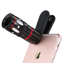 ALLCACA Phone Camera Lens Kit 10x Telescope Zoom Universal Telephoto Lens for iPhone/Huawei/Laptops/Samsung and More,Black(China)
