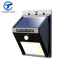 Solar Lamp Induction Garden Light PIR Human Body Motion Sensor Outdoor Street Flashlight Lamps With Solaire Battery Power 12 Led