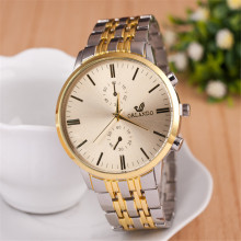 Best Buy Men Business Watch Alloy Case Golden Dial Mens Simple Watches Quartz Gold Wristwatch Metal Bracelet Men's Xfcs Fashion