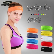 1 Pcs Outdoor Sports Elastic Head Sweatband Absorbent Yoga Hairband Running Fitness Cotton Headband Anti-sweat Hair Band