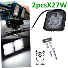 2pcs 12V 24V  LED Work Light for Motorcycle Driving Offroad Boat Car Tractor Truck 4x4 SUV ATV