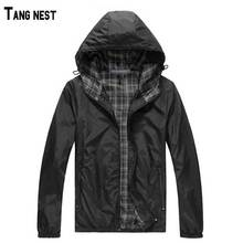 TANGNEST 2017 New Hot Sale Man Hooded Thin Jackets Male Hoodie Waterproof Thin Windbreaker MWJ093