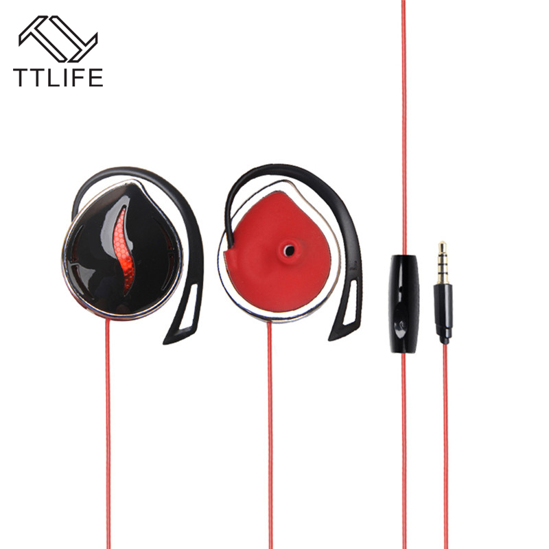 New Fashion TTLIFE Brand Ear Hook Wired Earphone Stereo Portable Headphone For Iphone Mobile Phone Xiaomi Headset Bass With Mic<br><br>Aliexpress