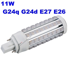 11w g24 led pl light 3 yeas warranty g24q g24d e27 e26 base led bulb replace g24 26w DHL fedex free led replacement cfl 26w